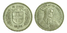 pci1409) Svizzera  Switzerland  Helvetia - 5 Franchi Francs 1932 B not cleaned