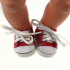 Doll Leisure shoes  for 43cm Baby Born zapf Handmade Red Sport shoesb678