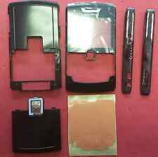 New Genuine Original Blackberry 8800 Full Black Housing Fascia Cover Side Panels