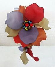 Joan Rivers Bracelet Gorgeous Flower Multi-Color Petals Beads Expansion Stretch