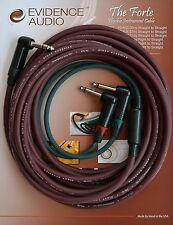 15 foot Evidence Audio FORTE Stereo Y Cable - TRS to dual TS, Insert Cable,