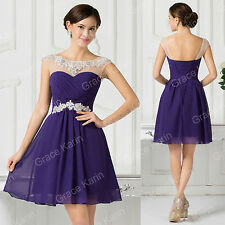 Teen Short Homecoming Prom Bridesmaid Gown Evening Cocktail Dress Graduation