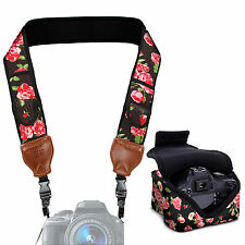 Camera Neck Strap with Accessory Storage Pockets