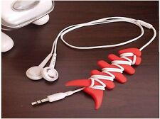 2xCord Wire Cable Smart Winder Bobbin Wrap Twister for Earphone Headset Mouse