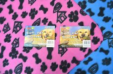 Soft Pet Fleece/Blanket for Dog, Cat Pink