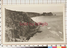 Porthcurno and Treen postcard local photographer Helston Cornwall