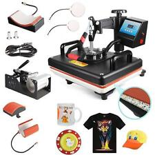 Hot 5in1 Heat Press Machine Digital Transfer Sublimation T-Shirt Mug Hat Plate