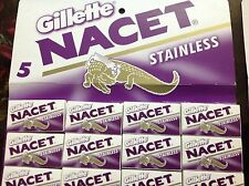 100 Blades Gillette NACET NEW STAINLESS Double edge blade Razor blades. Sale.