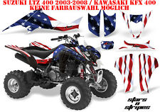 Amr racing decoración Graphic kit ATV suzuki ltz & Kawasaki KFX Stars N Stripes B