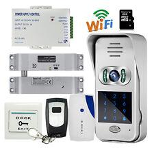 Code Keypad Wireless Wifi Doorbell Video Intercom Electric Drop Bolt Door lock