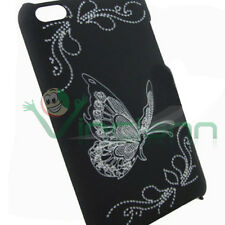 Custodia BACK cover rigida FLY NERA butterfly per Apple iPod Touch 4 4g