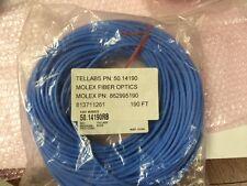 TELLABS 50.14190 MOLEX FIBER OPTICS P/N 862995190 FIBER OPTIC CABLE 190 Feet