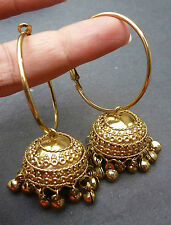 Indian Bridal gold Plated South Traditional Earrings Jhumka Ring Jhumki Set .,