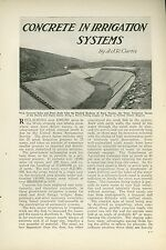 1921 Magazine Article Building Irrigation Canals in the West Concrete Farming