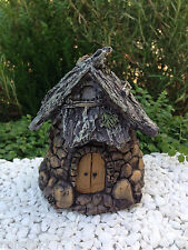 Miniature Dollhouse FAIRY GARDEN ~ Stone Look Resin Gnome Hut Cottage House