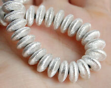 8mm. AAA Silver Coated Copper Rondelle Spacer Beads (10PCS)