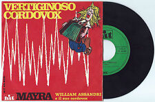 "7"" WILLIAM ASSANDRI Vertiginoso cordovox (Hit 69)Italian electro folk library EX"