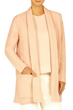 "$298 BCBG SOFT PETAL ""GINATA"" L-SLEEVE SHAWL COLLAR CARDIGAN SWEATER TOP NWT M"