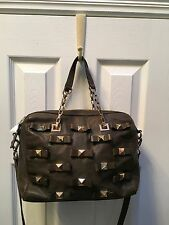 Olive Green KATE SPADE Leather handbag purse crossbody bag GOLD STUDS BOWS