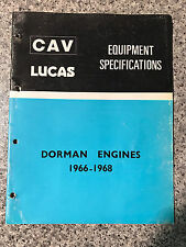 Dorman Engines (1966-1968) CAV Lucas Equipment Specifications Parts Catalogue