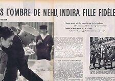 Coupure de presse Clipping 1957 Nehru et Indira Gandhi  (6 pages)