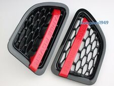 Land RANGE ROVER SPORT 2006-2009 RED+BLACK MESH SIDE FENDER VENT GRILLE