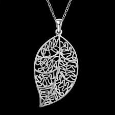 China Wholesale 925 Silver Filled Classical Tree leaf Necklace Fashion Jewellery