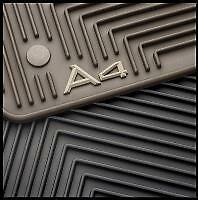 NEW OEM Audi 2003 TO 2008 A4 All Weather Rubber Black Mats set 8E1-061-450-041