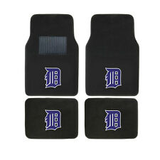 New 4pcs MLB Detroit Tigers Car Truck Front Rear Carpet Floor Mats Set