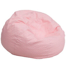 Flash Furniture DG-BEAN-LARGE-DOT-PK-GG Oversized Light Pink Dot Bean Bag Chair