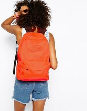 NEW VANS Realm Backpack Book Bag Neon Coral Pink Orange (Red)