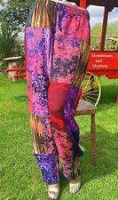 FAB NEW HIPPIE PATCHWORK BOHEMIAN TROUSERS PANTS UK SIZE 12 14 16 FESTIVAL YOGA