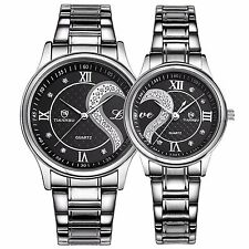 Tiannbu Fq-102 Stainless Steel Romantic Pair His and Hers Wrist Watches Men Set