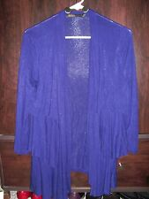 OUTBACK RED PURPLE SHRUG, LAYERED RUFFLE DESIGN. MID-LENGTH SLEEVES, SZ. M