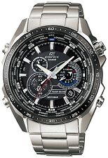 Casio Men's Edifice EQS500DB-1A1 Black Stainless-Steel Quartz Watch
