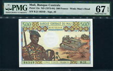 Mali 1973-1984, 500 Francs, P12e, Pmg 67 Epq Superb Gem Unc