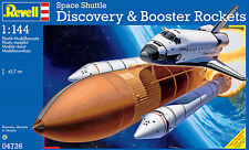 NUOVO REVELL 1/144 SPACE SHUTTLE DISCOVERY e BOOSTER ROCKETS kit modello