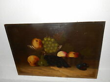 Old oil painting,{ Stillife with fruit, finished very finely, is antique! }.