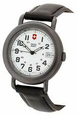 Swiss Army Men's PVD Cavalry  Watch 24531  white face  black  leather strap.
