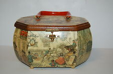 Vintage Wooden Box Purse Anton Pieck  Decoupage
