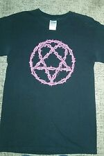HIM heartagram Pink Thorned Tour 2004 Tshirt Ville Valo NWOT Unisex Small