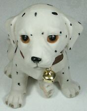 Puppy Figurine w Bell Dalmation 9319844338684 DOGPUP8 Poly Resin NEW in Box