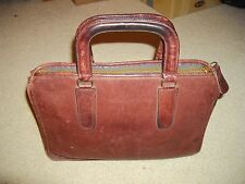 Coach Vintage burgandy/red Leather Bonnie Cashin Briefcase Handbag Tote NYC