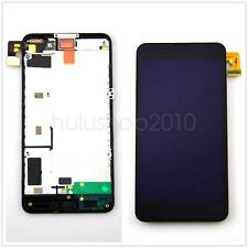 Black LCD Display Screen Touch Glass Digitizer + Frame For Nokia Lumia 630 635