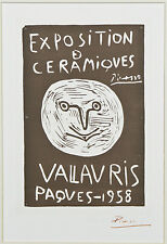 """""""Exposition Ceramiques Vallauris Paques"""" by Picasso Signed Lithograph"""