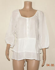 ANGEL RIBBONS WHITE TIERED HEM BLOUSE SIZE 18 BNWT