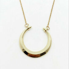 Fashion Gold plated Double Horn Pendant Lobster Clasp Closure Dot Necklace