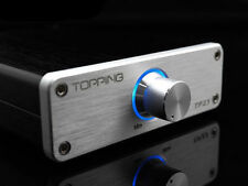 TOPPING TP23 16Bit 48KHz TA2021B USB DAC Digital Class T-AMP Amplifier Silver