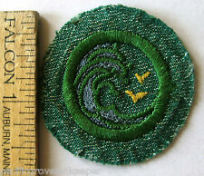 Vintage Girl Scout 1948-1955 SWIMMER BADGE Ocean Waves Seagull Birds Patch BMG