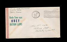 WWII Patriotic Military Free Uncle Sam Obey Ration Law Topeka KS 1945 Cover 9p